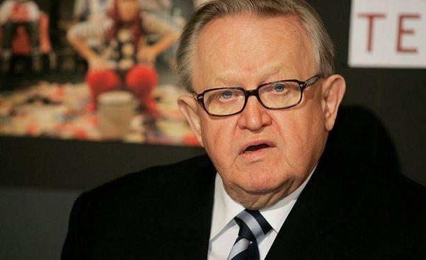 Martti Ahtisaari sai Nobelin rauhanpalkinnon vuonna 2008.