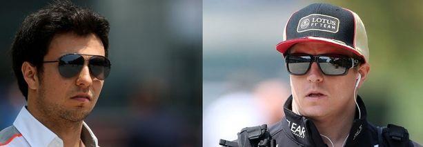 McLarenin Sergio Perez ja Lotuksen Kimi Räikkönen kokivat Kiinan GP:n kolarin eri tavalla.