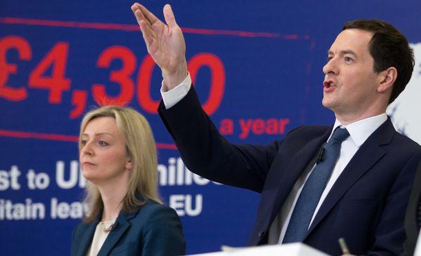 George Osborne varoittaa, että EU:sta eroaminen tekisi briteistä köyhiä.