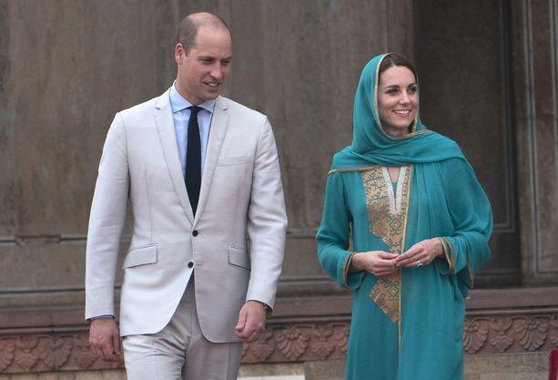 Prinssi Williamin ja herttuatar Catherinen Pakistanin-vierailu on lopuillaan.