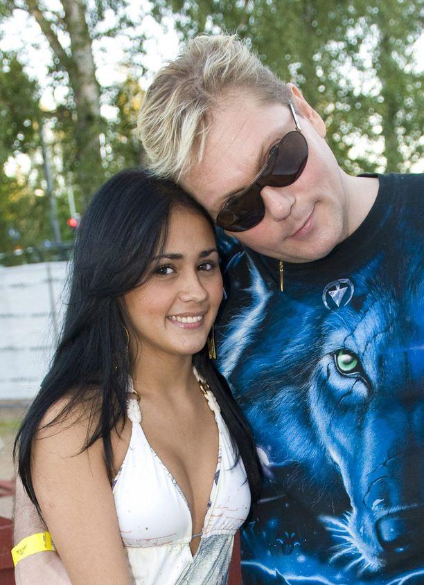 Seinäjoen vauhtiajoissa vuonna 2008 Keskisen kainalossa oli brasilialainen Natalia.