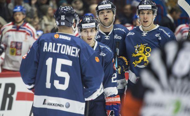Miro Aaltonen (neljä ottelua, neljä maalia) on ollut Suomen paras maalintekijä tämän kauden EHT-peleissä.