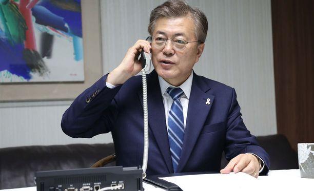 Etelä-Korean presidentti Moon Jae-in on ollut virassa vasta hetken.