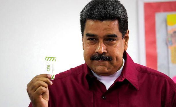 Venezuelan istuva presidentti Nicolas Maduro on julistettu maan sunnuntaina järjestettyjen presidentinvaalien voittajaksi.