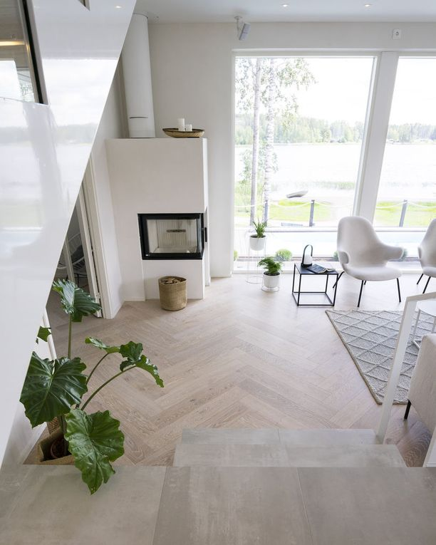 Skandinaavinen sisustustyyli on ollut trendi jo pitkään. Kuva Mikkelin asuntomessuilta.