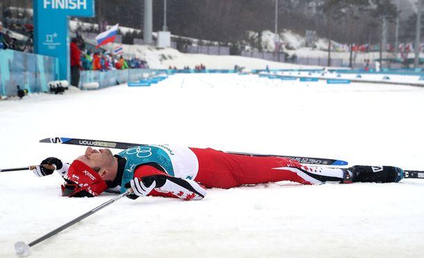 Alex Harvey oli olympialaisten päätösmatkan jälkeen kaikkensa antanut ja maansa myynyt.
