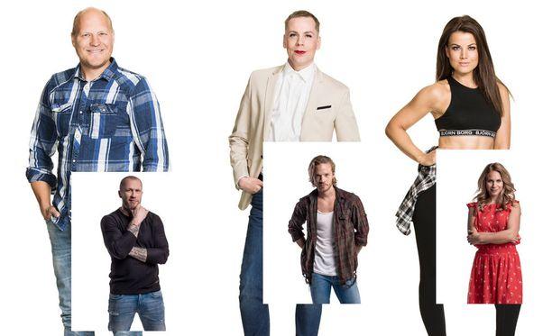 Kalle ja Hannes, Christal ja Sauli sekä Janni ja Eevi.