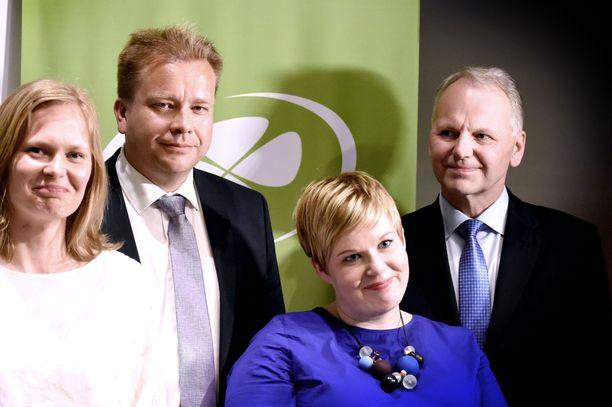 Hanna Kosonen, Antti Kaikkonen, Annika Saarikko ja Jari Leppä ovat mukana Sipilän hallituksessa.