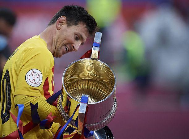 Lionel Messi teki Espanjan cupin finaalissa kaksi maalia.