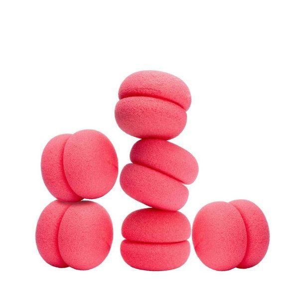 Pinkit vaahtopallerot näyttävät hassuilta, mutta toimivat loistavasti pehmoisina paplareina. Nämä päässä voi jopa nukkua, 9,90 e, Glitter.