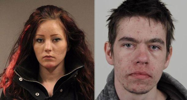 Poliisi pyytää vihjeitä kuvan naisesta ja miehestä.