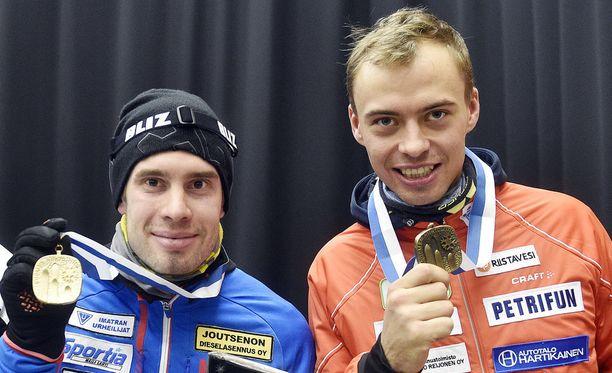 Lari Lehtonen (vas.) ja Perttu Hyvärinen valittiin viimeisinä hiihtäjinä Korean olympiakisoihin.