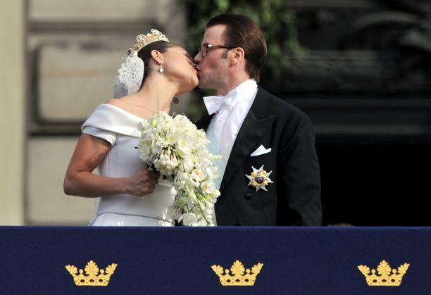 Kruununprinsessa Victoria ja prinssi Daniel avioituivat kesäkuussa 2010.