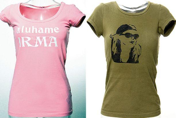 PAINATA KESÄPAITA Vanhaan t-paitaan voi keksiä hassuja tekstejä tai painattaa vaikka oman kuvansa.