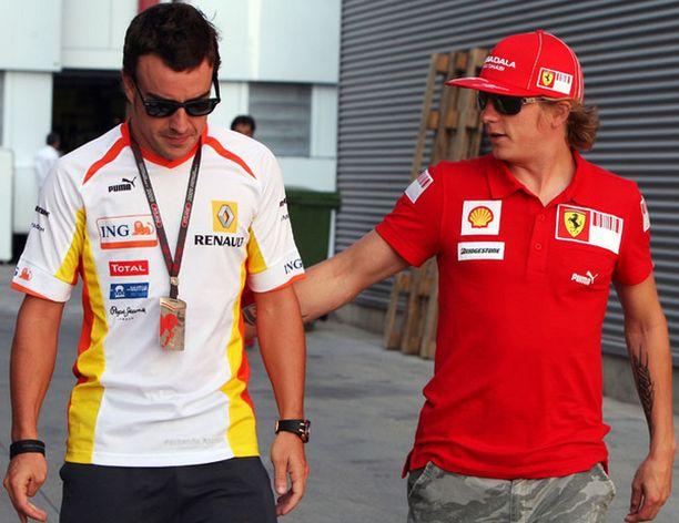 Tulevat tallikaverukset Fernando Alonso ja Kimi Räikkönen?