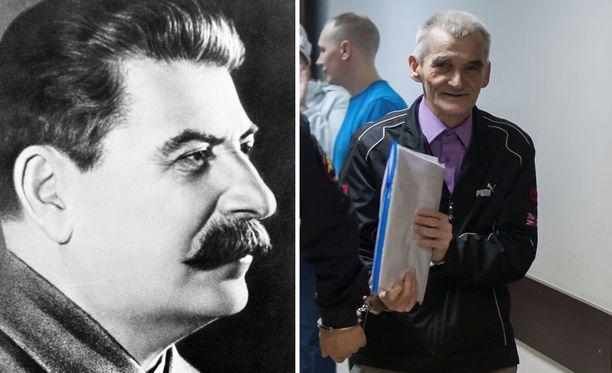 Uutistoimisto Reuters kertoo että venäläinen historiantutkija Juri Dmitriev (oikealla) on paljastanut neuvostojohtaja Josif Stalinin rikoksia. Dmitrieviä syytetään lukuisista rikoksista ja hänet on passitettu uuteen mielentilatutkimukseen.