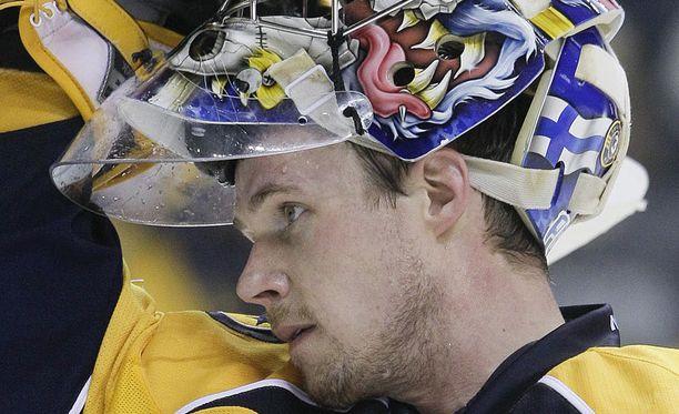 Pekka Rinne päästi viisi maalia.