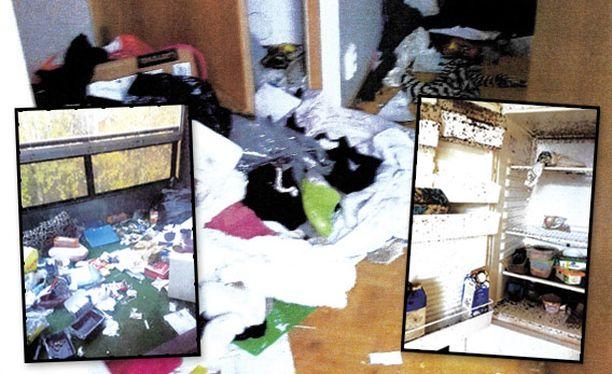 Oikeudelle toimitetusta kuvamateriaalista selviää, miten kammottavaan kuntoon vuokralainen oli asunnon jättänyt. Lisää kuvia jutun lopussa.