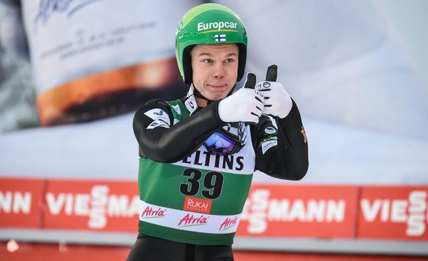 Arttu Mäkiaho oli mukana yhdistetyn joukkuekilpailussa. Arkistokuva.