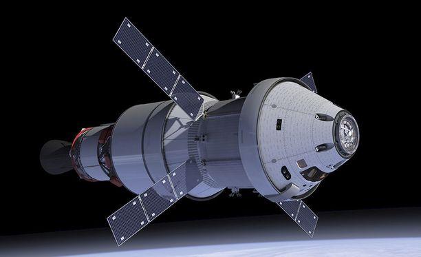 Yhdysvaltain avaruushallinnon Nasan uuden Orion-aluksen on määrä tehdä miehittämätön lento Kuun ympäri vuonna 2019.