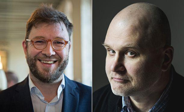 SDP:n kansanedustaja Timo Harakka (vas.) ja Ylen vastaava päätoimittaja Jouko Jokinen kinastelivat tiistaina Twitterissä.