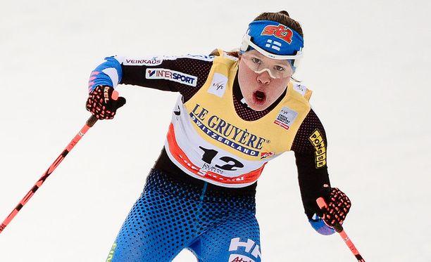 Kerttu Niskanen oli yksi kärkikymmenikköön hiihtäneistä suomalaisista.