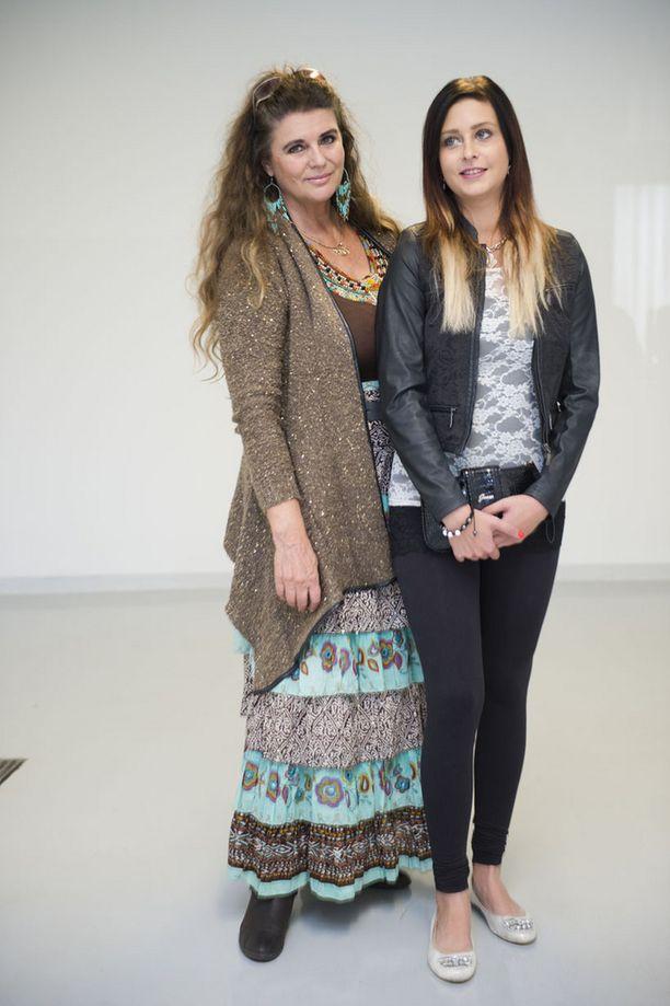 Riitta Väisänen ja tytär Sofia Mäkkylä ovat nyt molemmat perintöprinsessoja. Kuva vuodelta 2013.