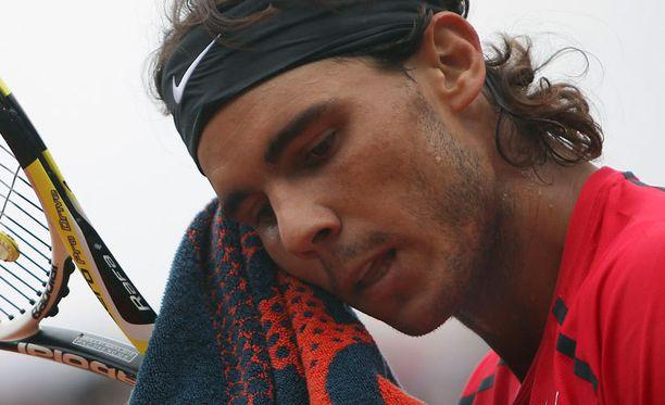 Rafael Nadalin tuska on helpottamassa.