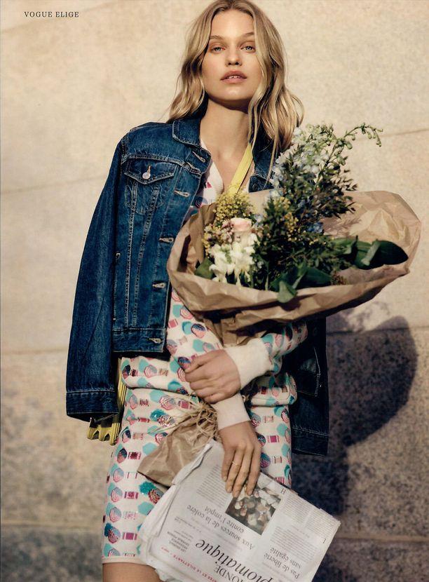 Tänä keväänä Lotta esittelee muotia esimerkiksi Vogue Españan editoriaalissa.