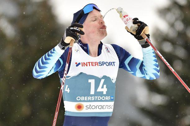 Iivo Niskasella oli erikoinen kilpailu pyhänä Alpeilla.