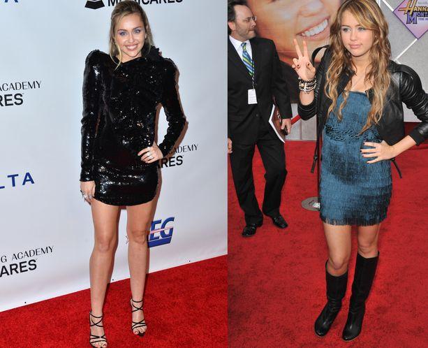 Miley Cyrus tuli tunnetuksi pääroolistaan Disneyn Hannah Montana -sarjasta.
