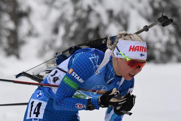 Mari Eder sijoittui 50 parhaan ulkopuolelle.