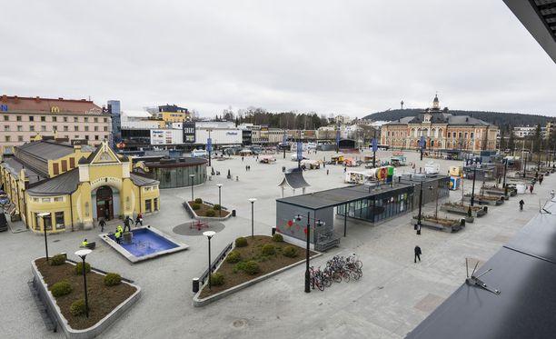 Iisalmelainen mies katosi Kuopion keskustasta viime marraskuussa. Kuvituskuva Kuopion torilta.