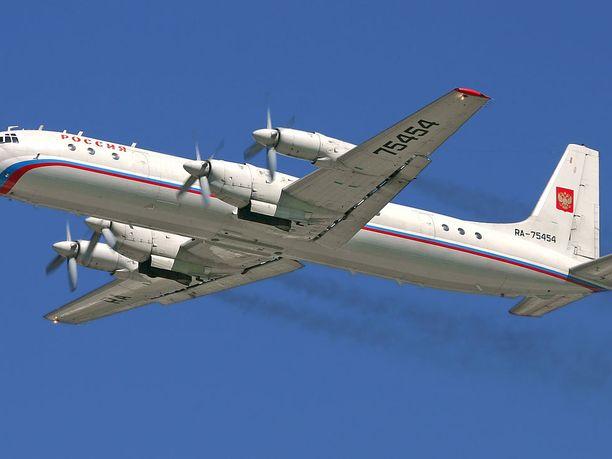 Kone oli IL-20-mallinen. Kuvassa IL-18.