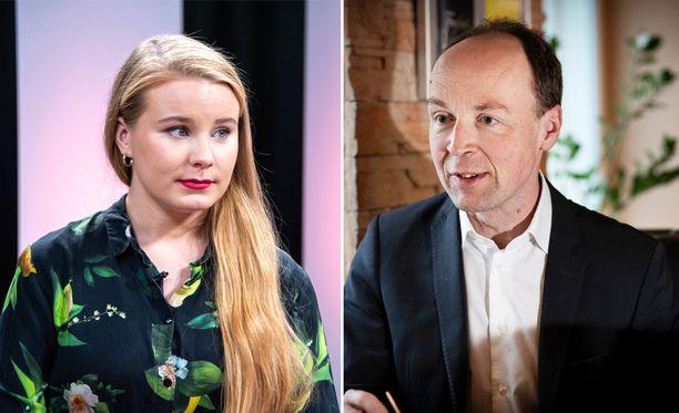 Iiris Suomela ja Jussi Halla-aho ottivat Twitterissä yhteen.