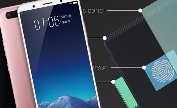 Vivon tulevasta puhelimen näytössä on sormenjälkilukija. Kuvassa Vivon X20 Plus.