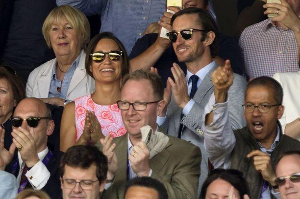 Pippa ja james kuvattiin viime kesänä Wibledonin tennisturnauksen yhteydessä.