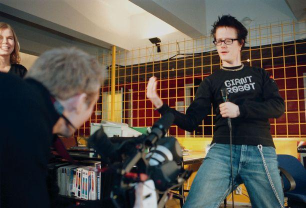 Kaapelitelevisiokanava MoonTV:n kuvauksista vuodelta 2000.