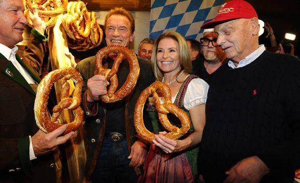 Myös Itävallan F1-legenda Niki Lauda nähtiin perinnejuhlassa.