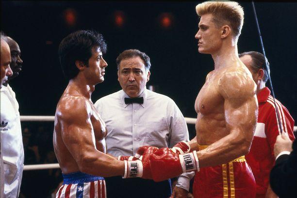 Rocky IV ilmestyi vuonna 1984. Sylvester Stallone kuvassa vasemmalla, Dolph Lundgren oikealla.
