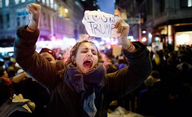 Mielenosoitus nostatti tunteet pintaan New Yorkissa.