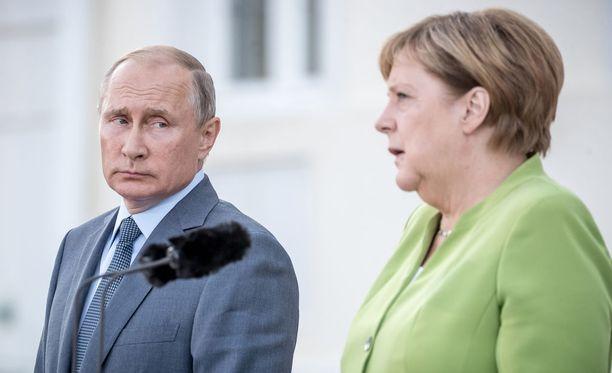Putin ja Merkel tapasivat toisen kerran tämän kesän aikana.
