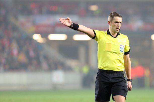 Mattias Gestranius on tällä kaudella viheltänyt myös Eurooppa-liigaa.