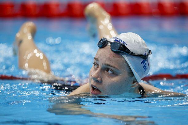 Ida Hulkko Tokion olympialaisissa kesällä.