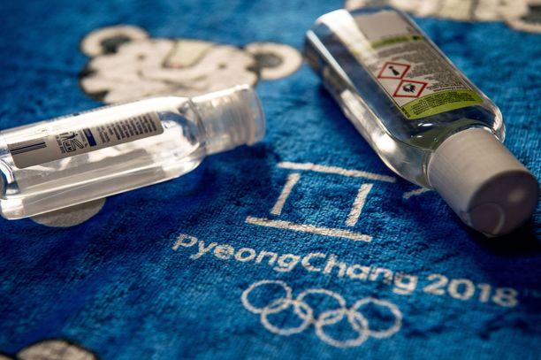 Vuoden 2018 talviolympialaisissa käsidesiä käytettiin lähinnä norovirustartunnan välttämiseksi.