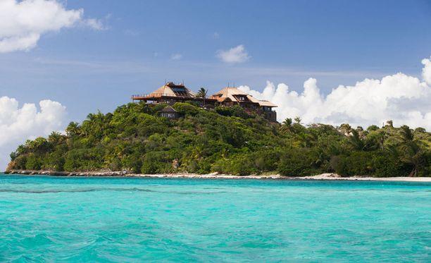 Richard Bransonin lomahuvila Necker-saarella.