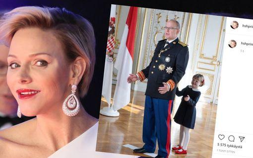 Monacon Charlene jakoi hilpeän kuvan tyttärestään – pelleilee ruhtinas Albertin kustannuksella
