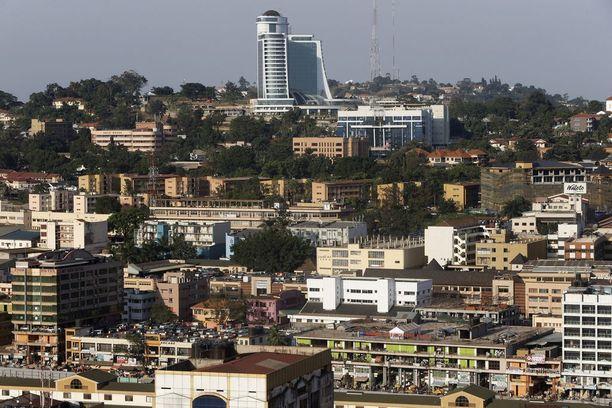Kuvassa iso rakennus on Pearl of Africa -hotelli, jossa kuolema tapahtui.