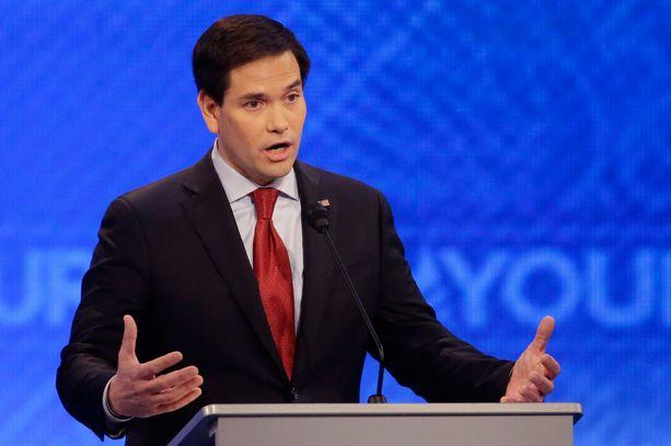 Marco Rubio joutui republikaanien väittelyssä hyökkäyksen kohteeksi.