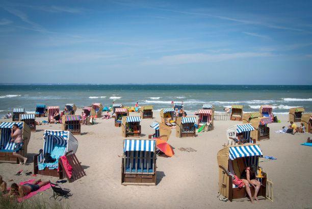 Korituolit ovat tyypillinen näky saksalaisilla hiekkarannoilla.